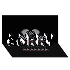 Winter Is Coming Game Of Thrones Ugly Christmas Black Background Sorry 3d Greeting Card (8x4)