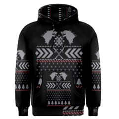 Winter Is Coming Game Of Thrones Ugly Christmas Black Background Men s Pullover Hoodie