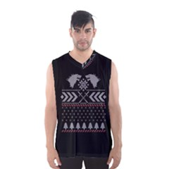 Winter Is Coming Game Of Thrones Ugly Christmas Black Background Men s Basketball Tank Top