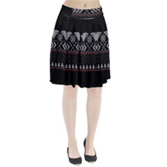 Winter Is Coming Game Of Thrones Ugly Christmas Black Background Pleated Skirt
