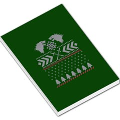 Winter Is Coming Game Of Thrones Ugly Christmas Green Background Large Memo Pads