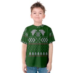 Winter Is Coming Game Of Thrones Ugly Christmas Green Background Kids  Cotton Tee