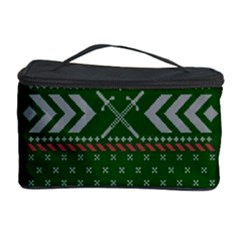 Winter Is Coming Game Of Thrones Ugly Christmas Green Background Cosmetic Storage Case