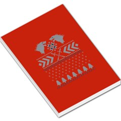 Winter Is Coming Game Of Thrones Ugly Christmas Red Background Large Memo Pads