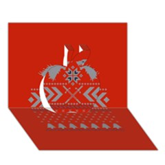 Winter Is Coming Game Of Thrones Ugly Christmas Red Background Apple 3d Greeting Card (7x5)
