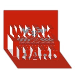 Winter Is Coming Game Of Thrones Ugly Christmas Red Background Work Hard 3d Greeting Card (7x5)
