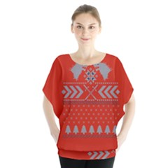 Winter Is Coming Game Of Thrones Ugly Christmas Red Background Blouse