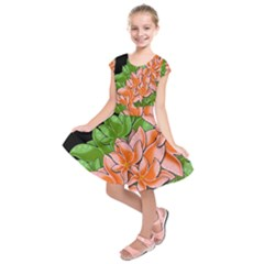Decorative flowers Kids  Short Sleeve Dress