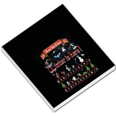 Winter Is Here Ugly Holiday Christmas Black Background Small Memo Pads