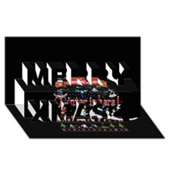 Winter Is Here Ugly Holiday Christmas Black Background Merry Xmas 3d Greeting Card (8x4)