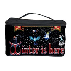 Winter Is Here Ugly Holiday Christmas Black Background Cosmetic Storage Case