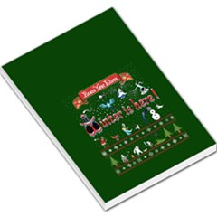 Winter Is Here Ugly Holiday Christmas Green Background Large Memo Pads