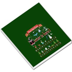 Winter Is Here Ugly Holiday Christmas Green Background Small Memo Pads