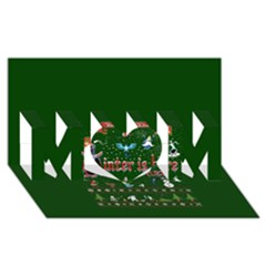 Winter Is Here Ugly Holiday Christmas Green Background MOM 3D Greeting Card (8x4)