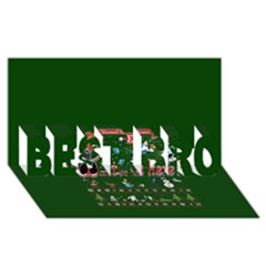 Winter Is Here Ugly Holiday Christmas Green Background Best Bro 3d Greeting Card (8x4)