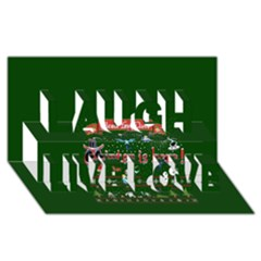 Winter Is Here Ugly Holiday Christmas Green Background Laugh Live Love 3d Greeting Card (8x4)