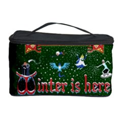 Winter Is Here Ugly Holiday Christmas Green Background Cosmetic Storage Case