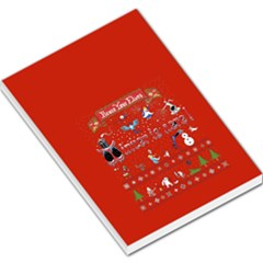 Winter Is Here Ugly Holiday Christmas Red Background Large Memo Pads