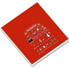 Winter Is Here Ugly Holiday Christmas Red Background Small Memo Pads