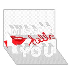 Hello Lip Red Sexy Miss You 3d Greeting Card (7x5)