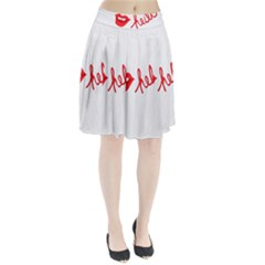 Hello Lip Red Sexy Pleated Skirt