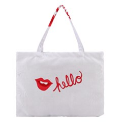 Hello Lip Red Sexy Medium Tote Bag