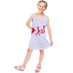 Hello Lip Red Sexy Kids  Tunic Dress