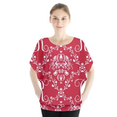 Initial Damask Red Paper Blouse