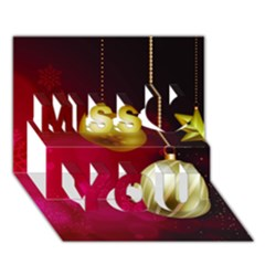 Lamp Star Merry Christmas Miss You 3d Greeting Card (7x5)