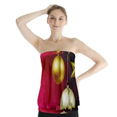 Lamp Star Merry Christmas Strapless Top