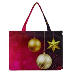 Lamp Star Merry Christmas Medium Zipper Tote Bag