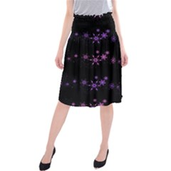 Purple elegant Xmas Midi Beach Skirt
