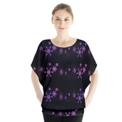 Purple elegant Xmas Blouse