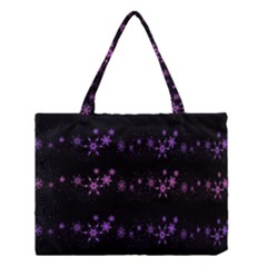 Purple elegant Xmas Medium Tote Bag