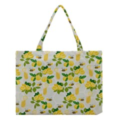 Lemon Print Fruite Juise Fress Drink Medium Tote Bag