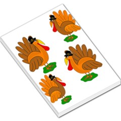 Thanksgiving Turkeys Large Memo Pads