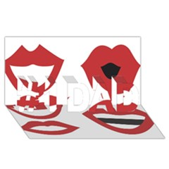 Lip Sexy Red #1 Dad 3d Greeting Card (8x4)