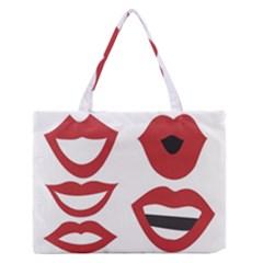 Lip Sexy Red Medium Zipper Tote Bag