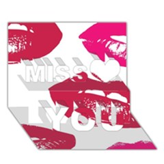 Living Nude Lipstick Featuredimage Miss You 3d Greeting Card (7x5)