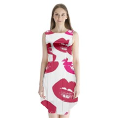 Living Nude Lipstick Featuredimage Sleeveless Chiffon Dress