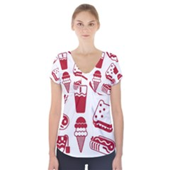 Mad Ice Ernies Tea Bred Short Sleeve Front Detail Top