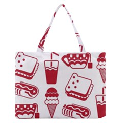 Mad Ice Ernies Tea Bred Medium Zipper Tote Bag
