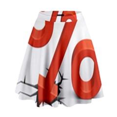 Percent High Waist Skirt