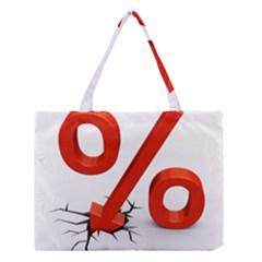 Percent Medium Tote Bag