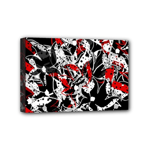 Red abstract flowers Mini Canvas 6  x 4
