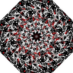 Red abstract flowers Folding Umbrellas