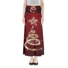 Shiny Christmas Tree Maxi Skirts