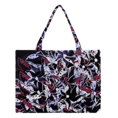 Decorative Abstract Floral Desing Medium Tote Bag