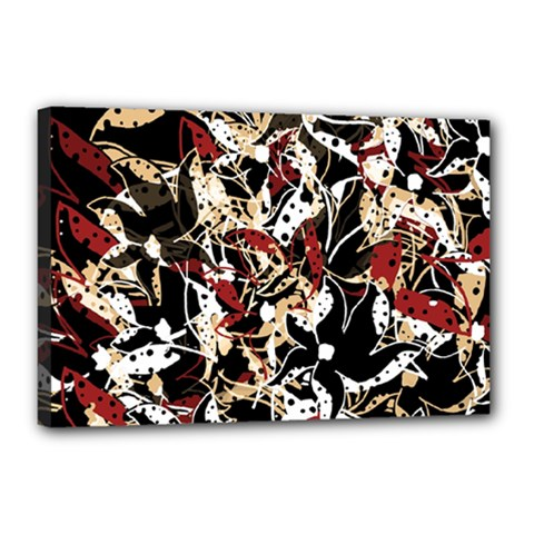 Abstract floral design Canvas 18  x 12