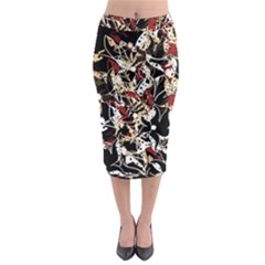 Abstract floral design Midi Pencil Skirt